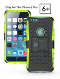 iPhone 6 Plus Case, iPhone 6/6S Plus Armor cases (6+) Tough Rugged Shockproof Armorbox Dual Layer Hybrid Hard/Soft Slim Protective Case (5.5 inch) by Cable and Case - Green Armor Case