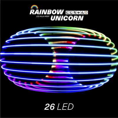 Rainbow Unicorn LED Hula Hoop