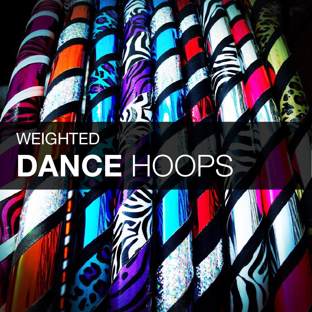 Weighted Dance Hula Hoops - Rainbow Collection