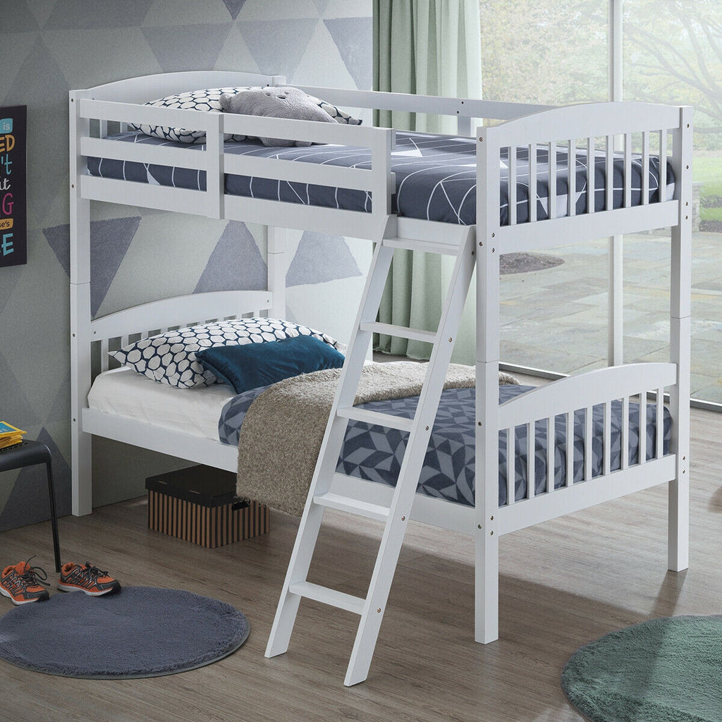 Twin Bunk Beds with Individual Kid Bed Ladder