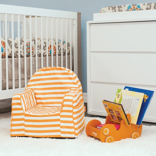 Little Reader Chair - Stripes Orange