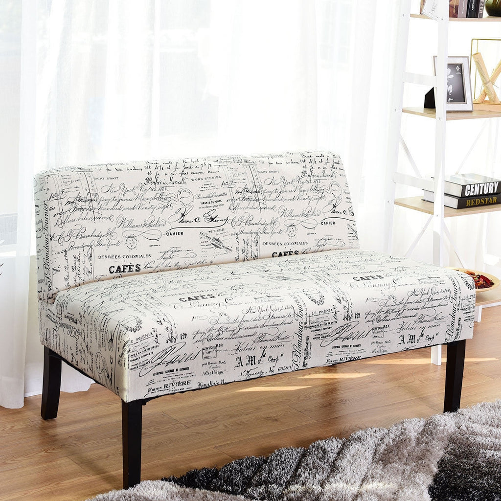 Living Room Armless Loveseat Sofa