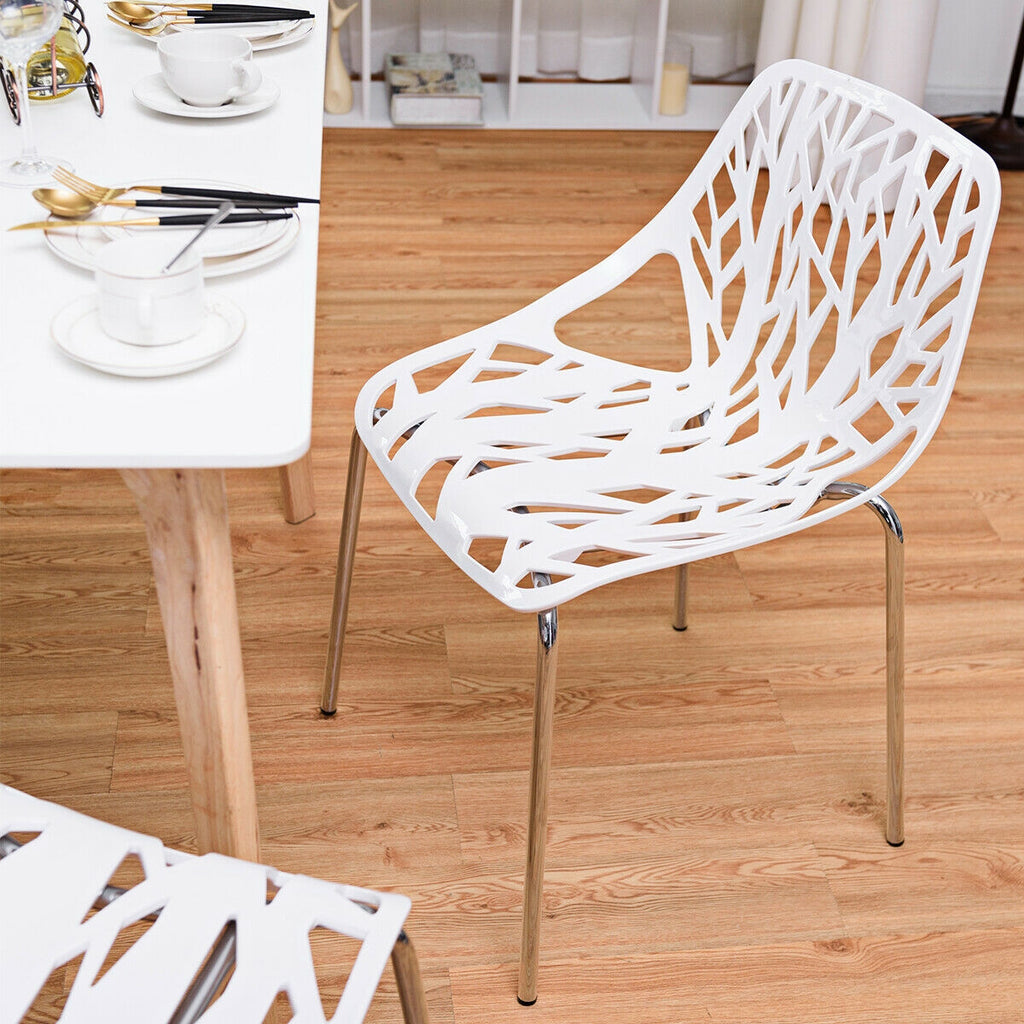 Set of 4 Dining Armless Side Chairs