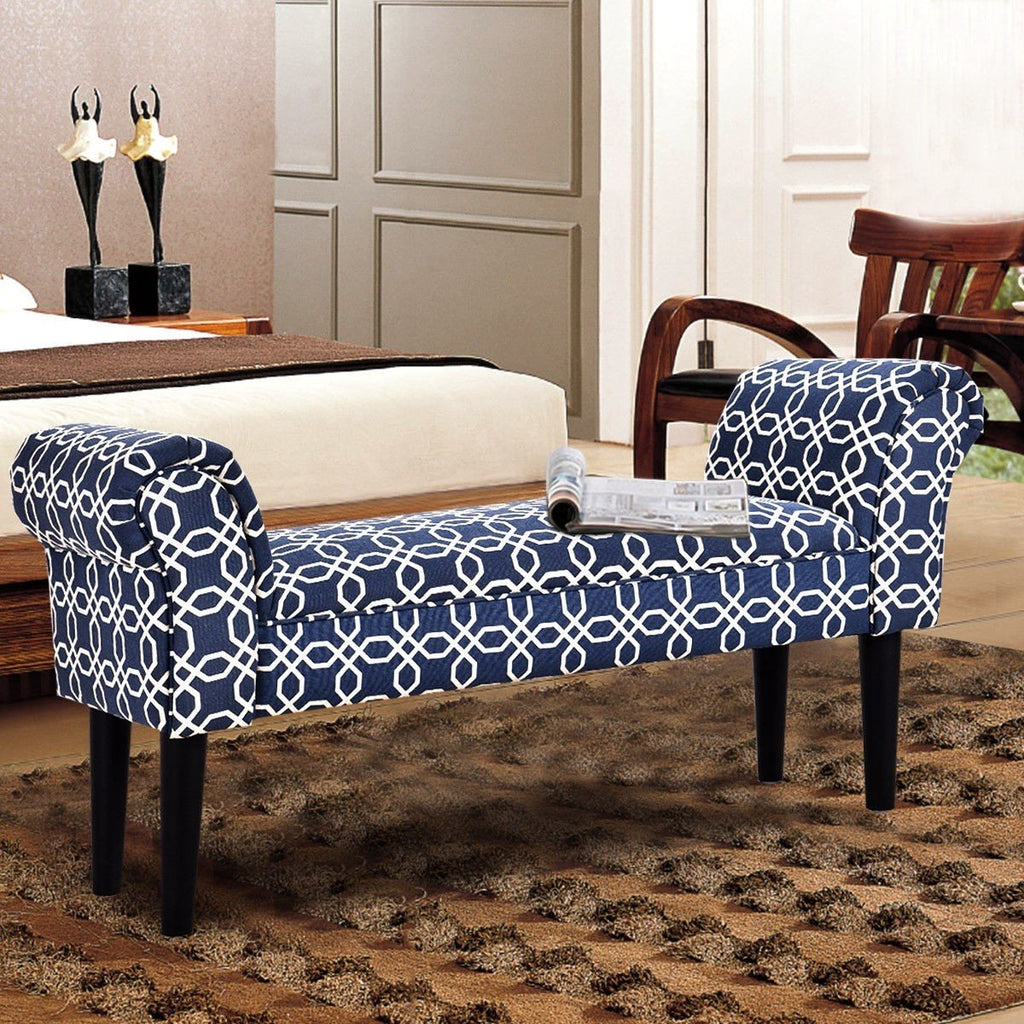 Upholstered Armed Bench - Bench
