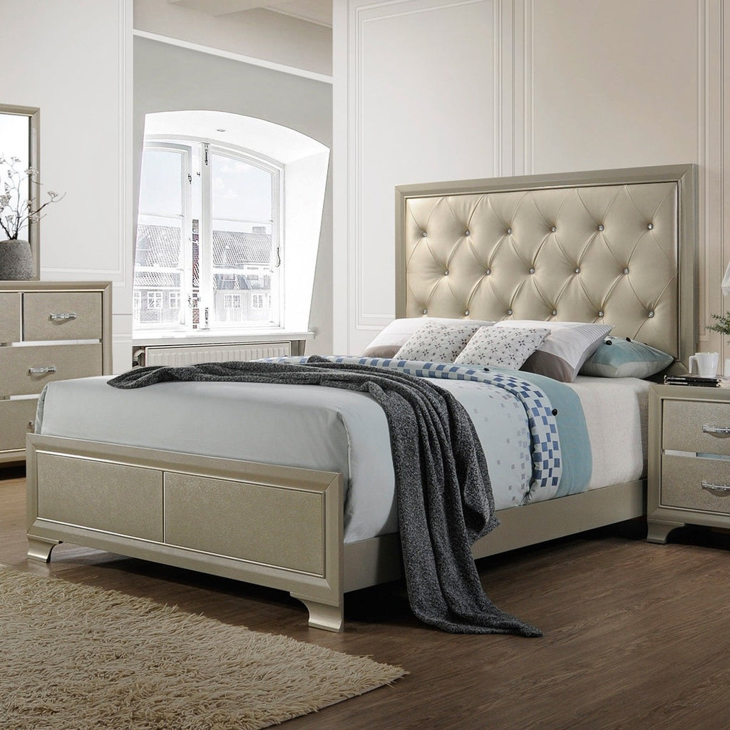 Home Furniture Platform Tall Headboard Wood Queen Bed Frame