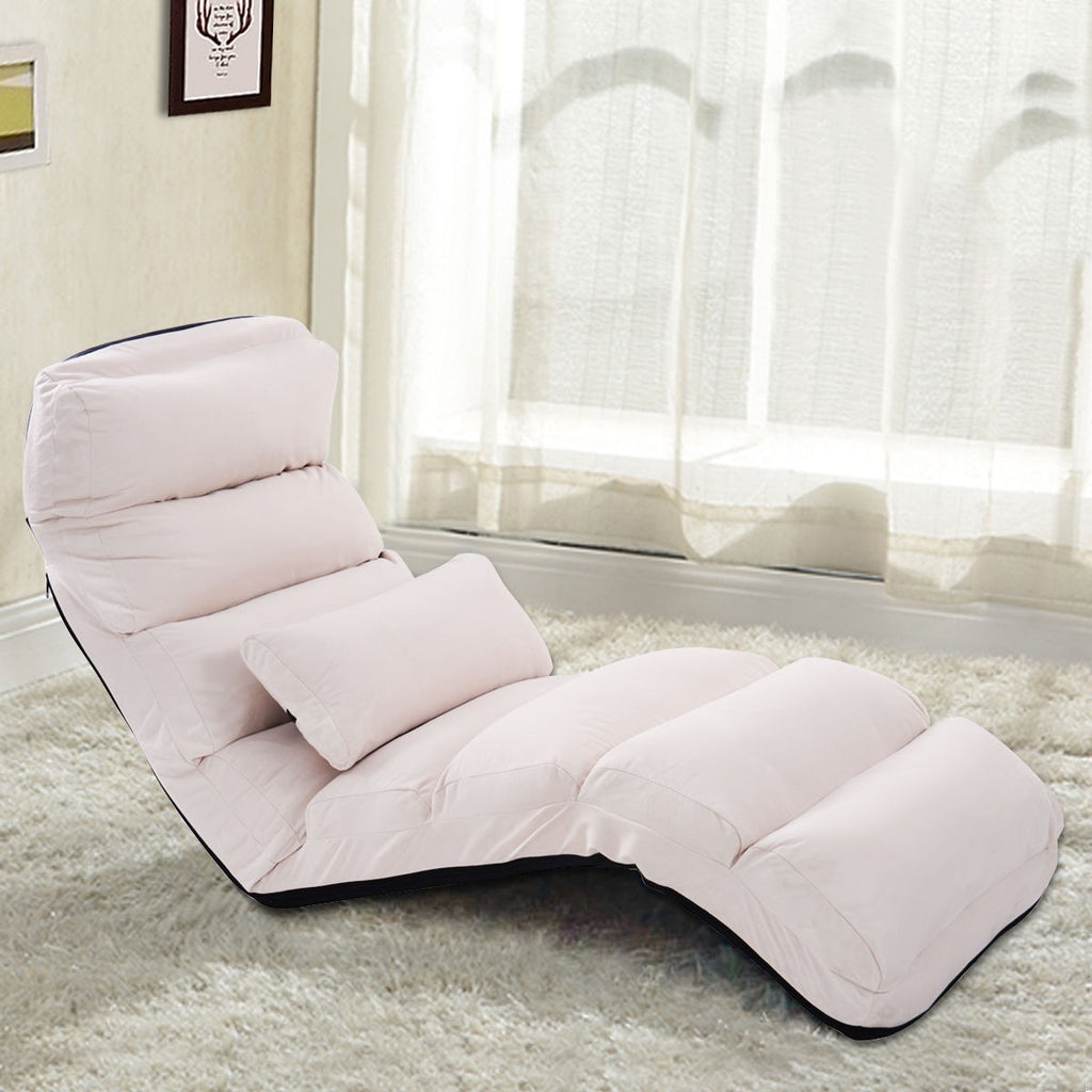 Folding Lazy Sofa Couch with Pillow