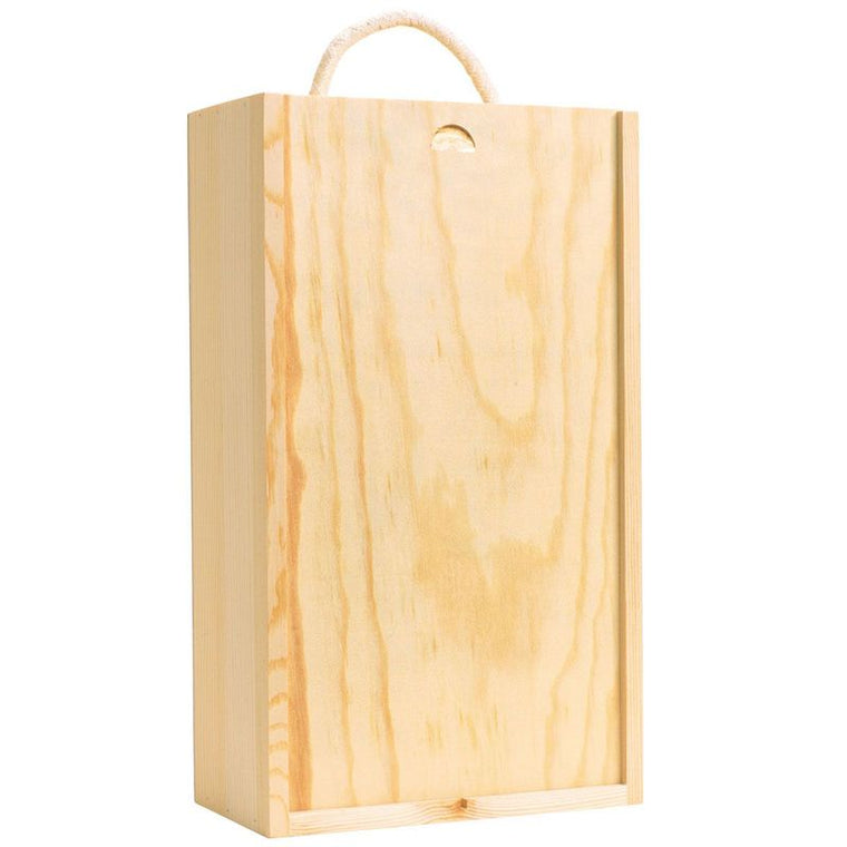 2 bottle wooden gift box - giornos