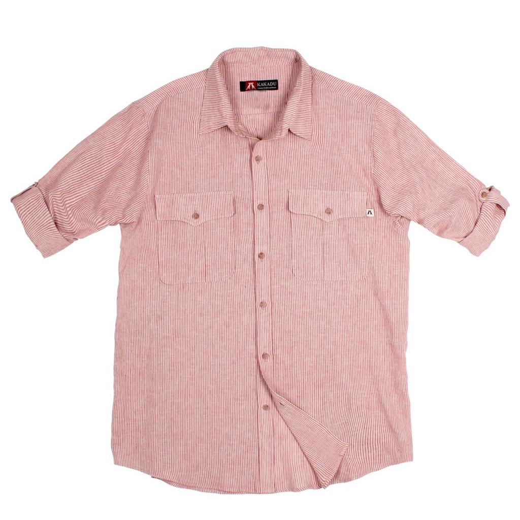 Bargo Shirt in Red Stripe
