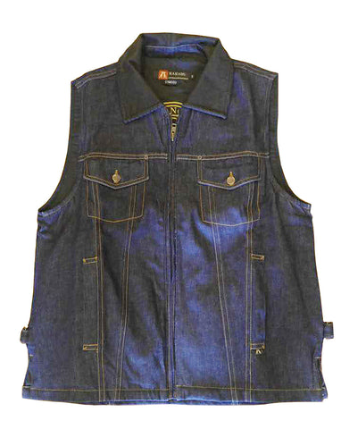 KELLY '12' VEST in Denim