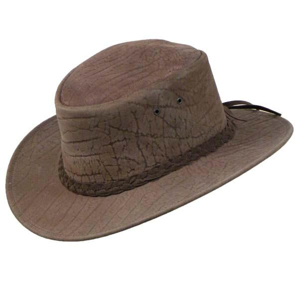 Colonial Hat In Mud Embossed Grain
