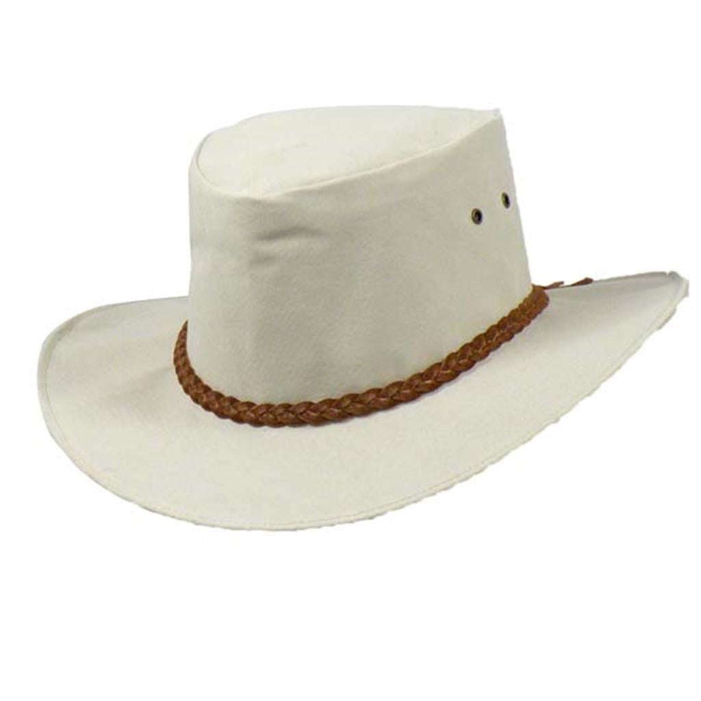 Colonial Leather Hat In Sand