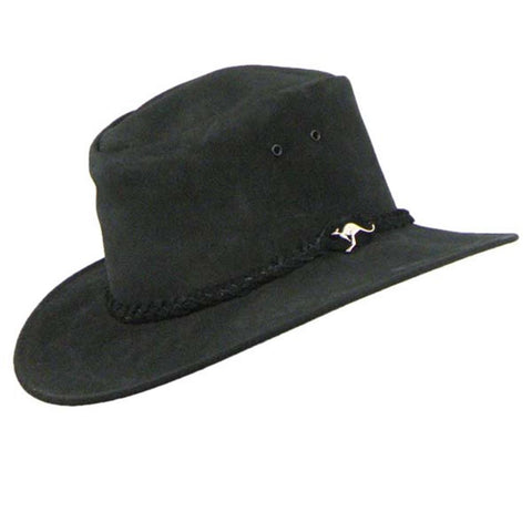 Colonial Hat in Black Suede