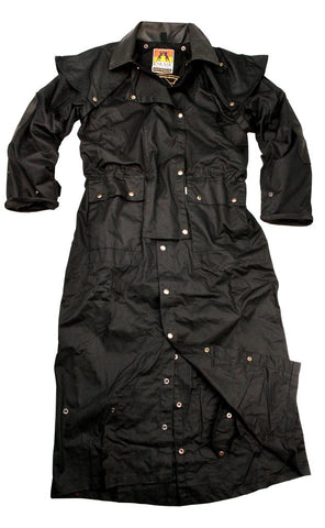 Long Rider 3-In-1 Drovers Coat in Black