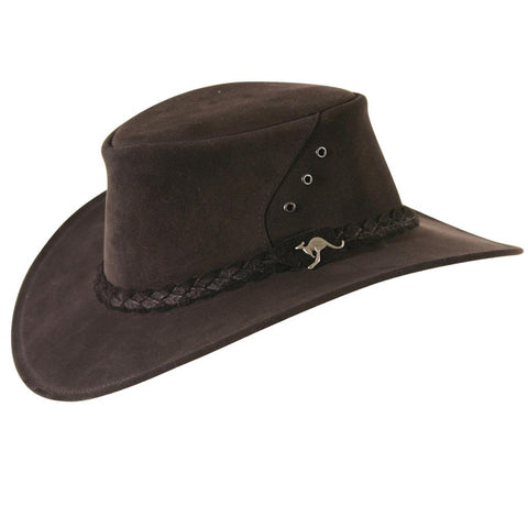 Kakadu ALICE HAT in Black Suede Leather