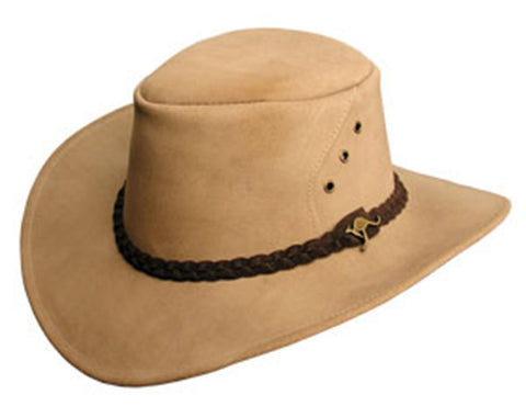 Kakadu ALICE HAT in Tan Suede Leather