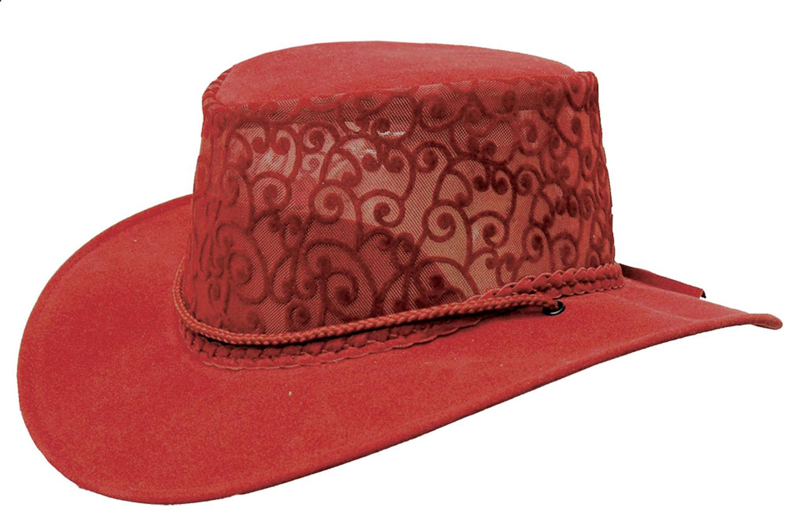 Florentine Soaka & Mesh Hat in Red