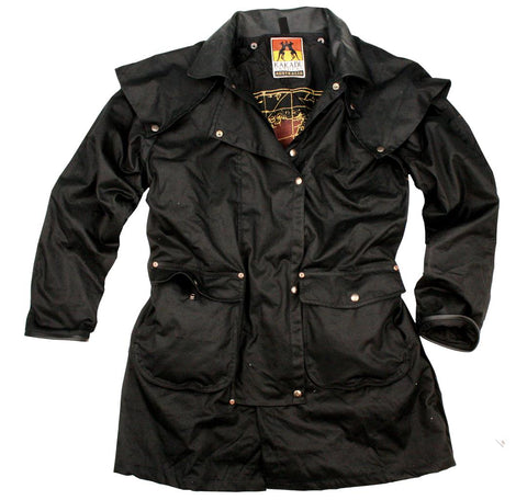 Iron Bark Drovers Jacket in Black