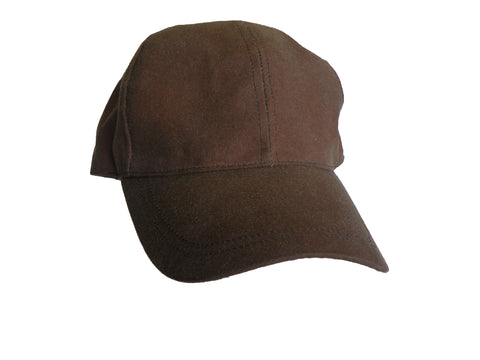Oilskin Ballcap In Brown