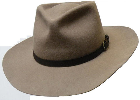 Justin Wool Felt Hat In Taupe
