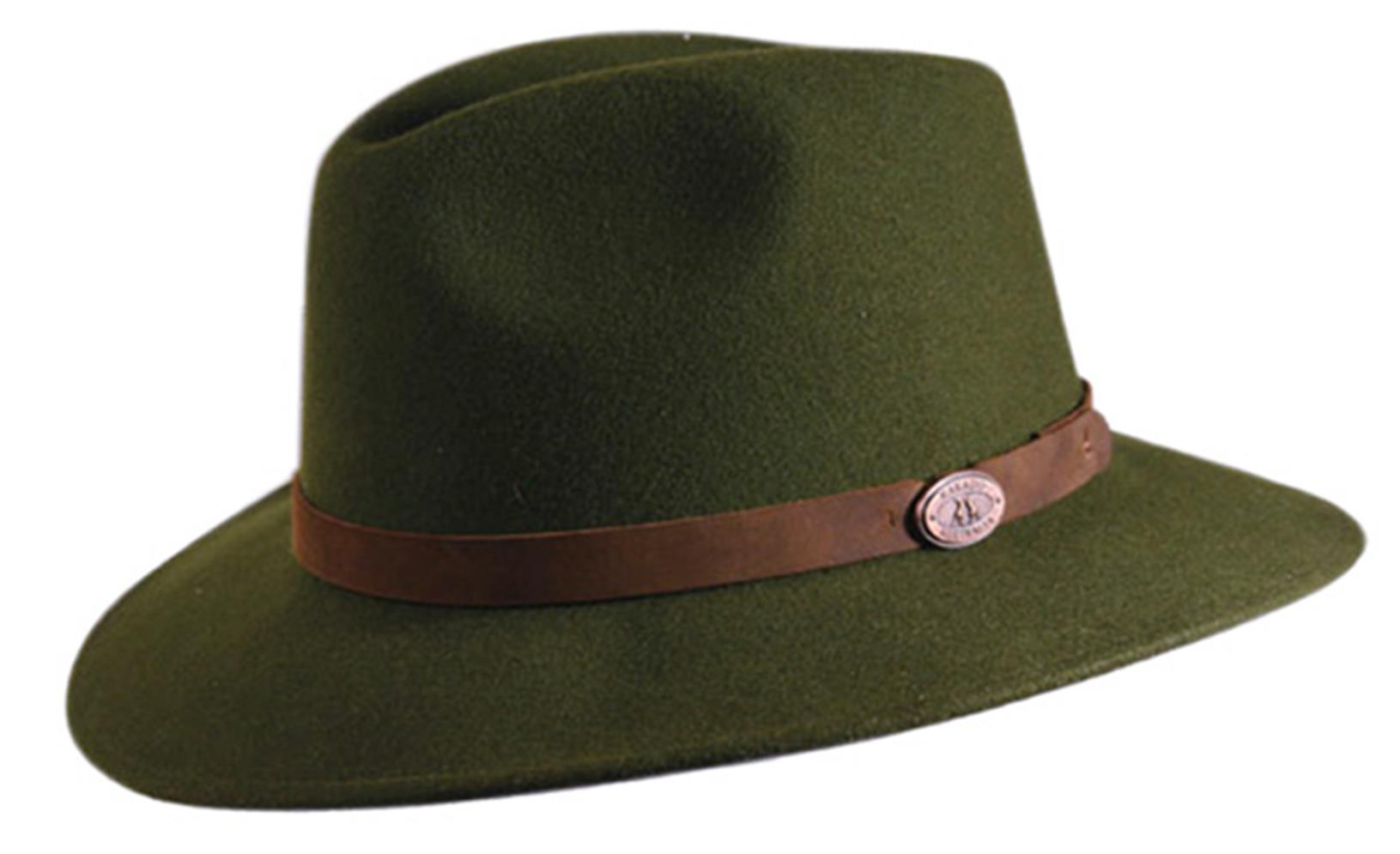 Clancy Wool Felt Hat In Loden Green
