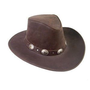 Razorback Shapeable Leather Hat in Brown
