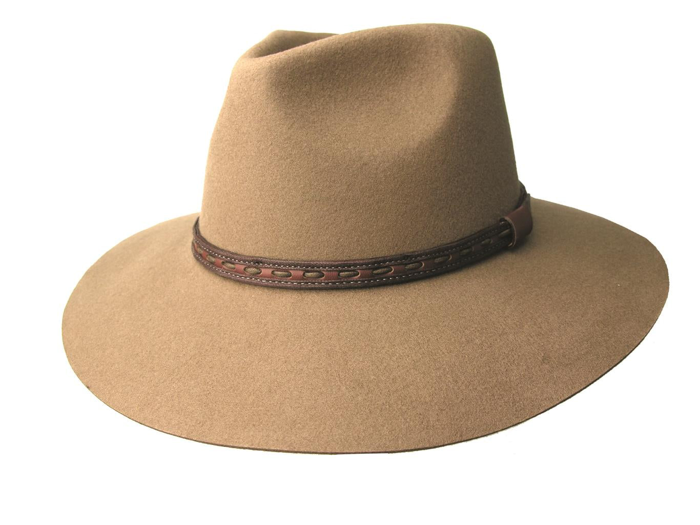Kakadu TAREE HAT in Taupe Wool Felt