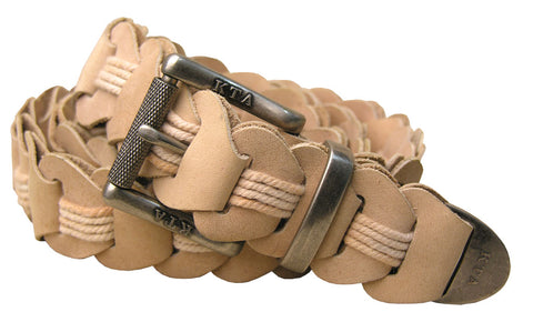 Lincoln Hand Braided Belt in Bone
