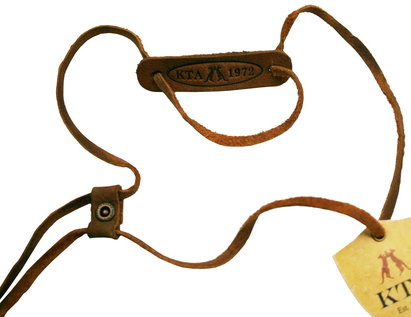Leather Chinstrap in Brown