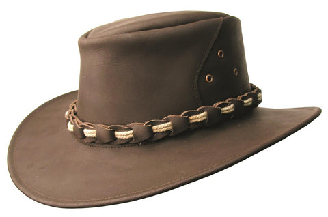 Lismore Leather Hat in Brown