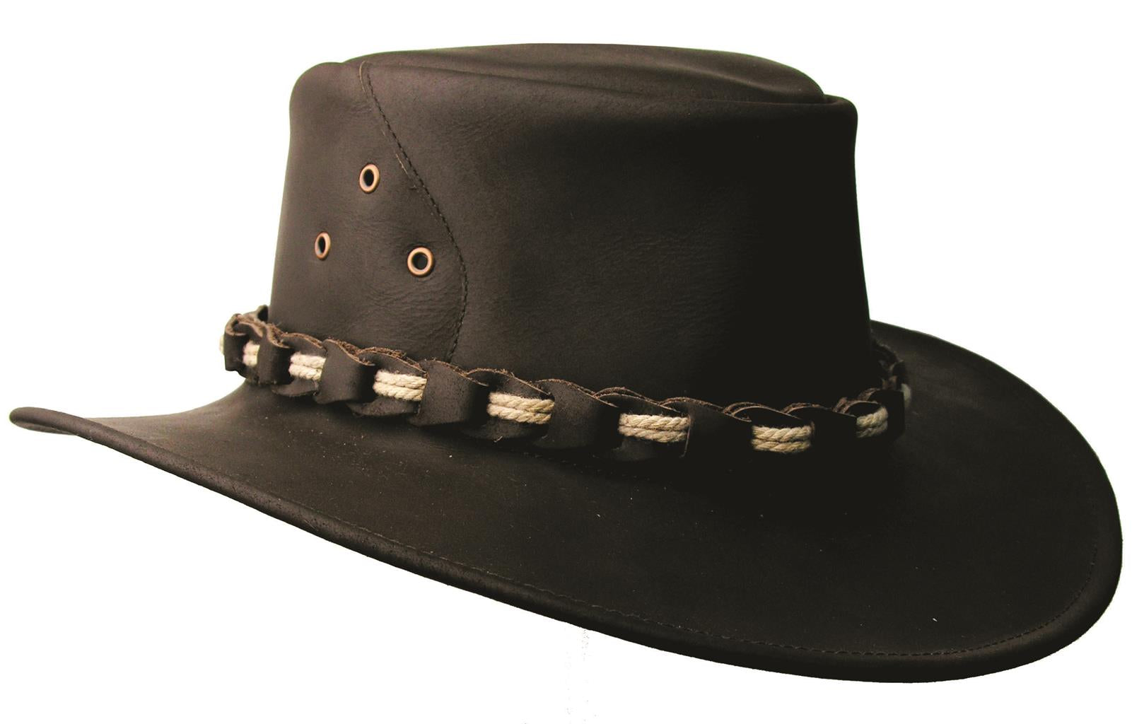 Lismore Leather Hat in Black
