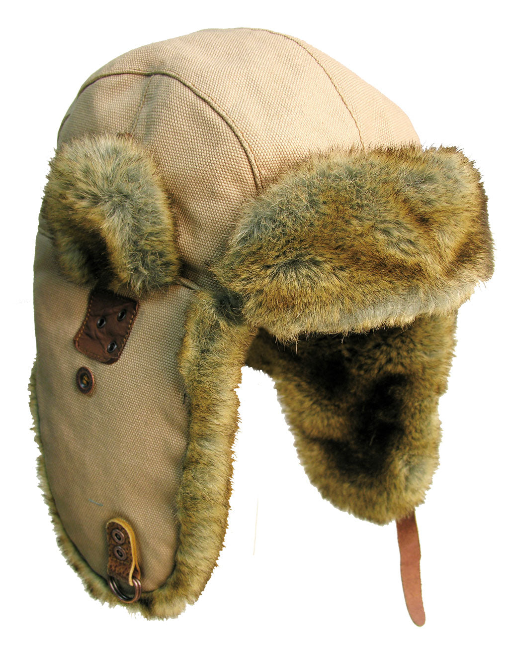 Huskie Aviator Hat in Bone