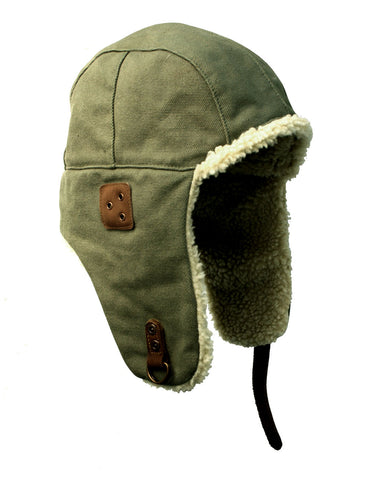 Baron Aviator Hat in Sage