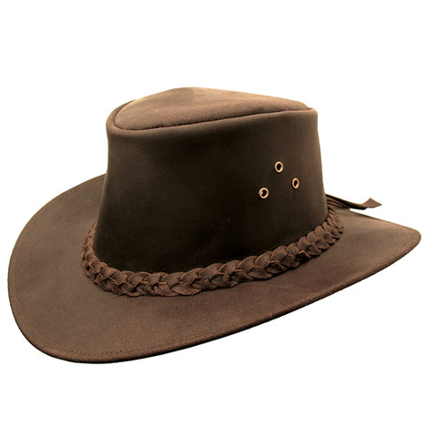 Iron Cove Leather Hat In Brown