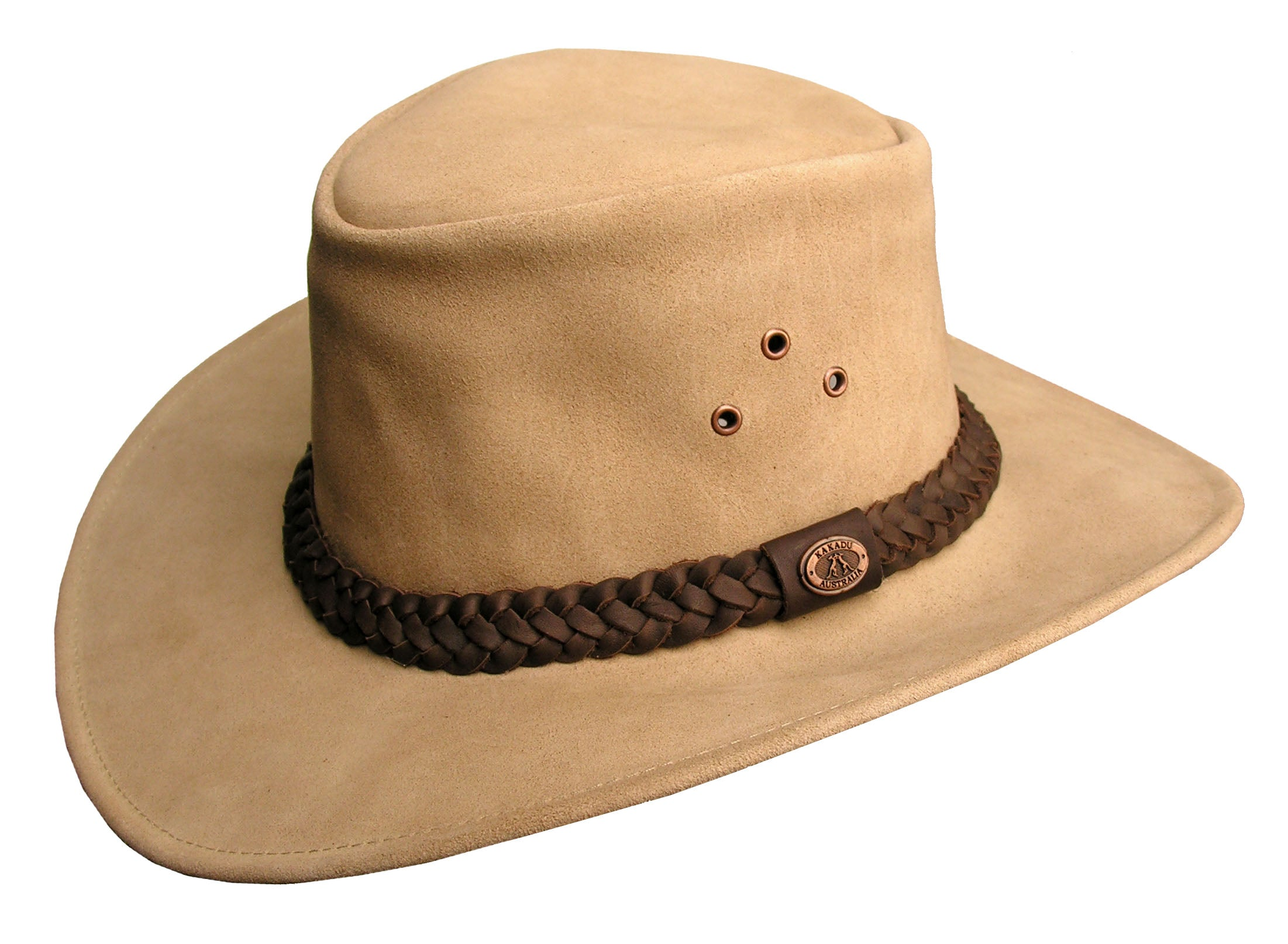 Geelong Leather Hat In Tan