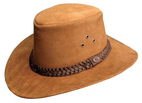 Geelong Leather Hat In Rust