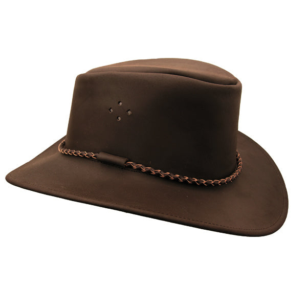 Kakadu SYDNEY Leather Hat in Brown