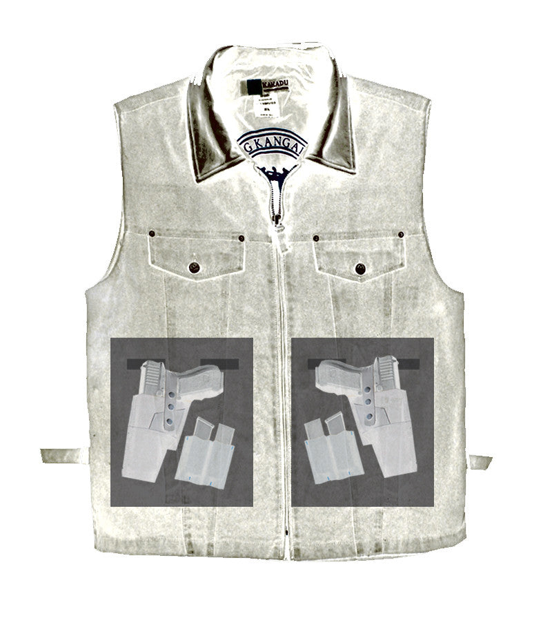 KELLY '12' VEST, blue denim