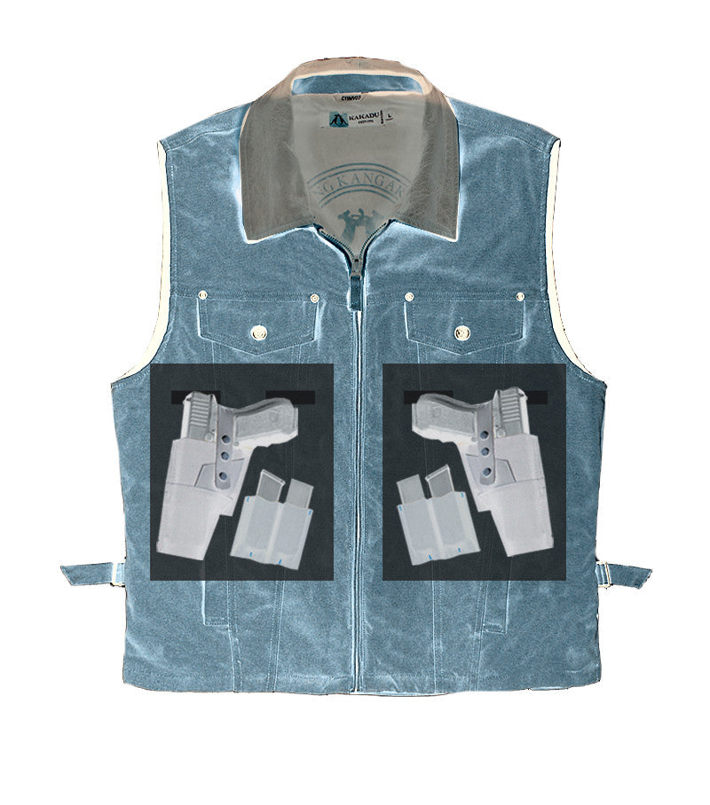 KELLY '12' VEST, tobacco