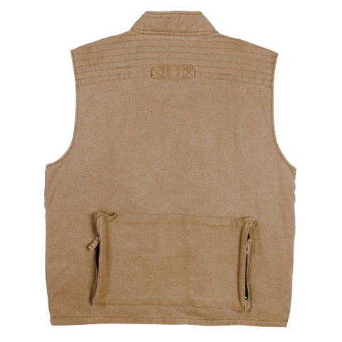 GUNN-WORN DELTA VEST in Tobacco