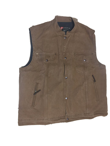 BIKIE VEST in Tobacco