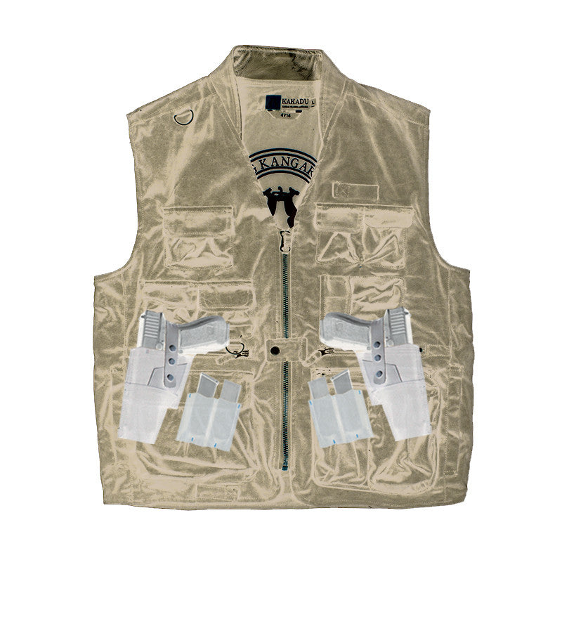 GUNN-WORN TRAVELLER VEST in Black