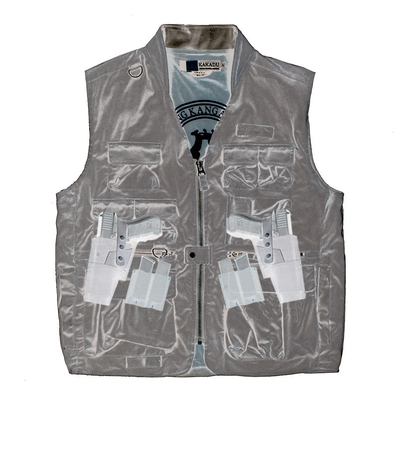 GUNN-WORN TRAVELLER VEST in Brown