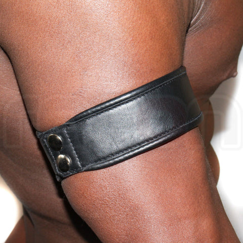 Recon Leather Arm Band - Black