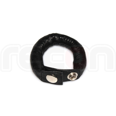 Recon Leather Weighted Cock Strap