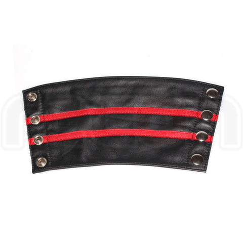 Recon Leather Gauntlet Wrist Wallet - Red Stripe
