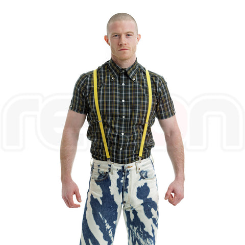 Brutus Trimfit Tartan - Forest Green/Yellow/White