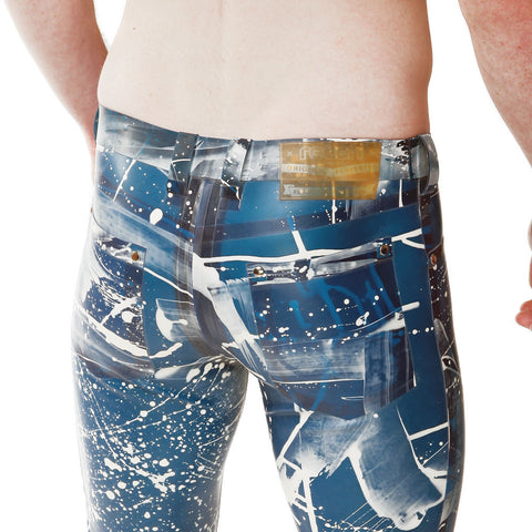 Recon London Rubber Skin Jeans - Blue