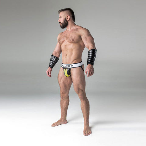 Maskulo Codpiece Jockstrap - Yellow