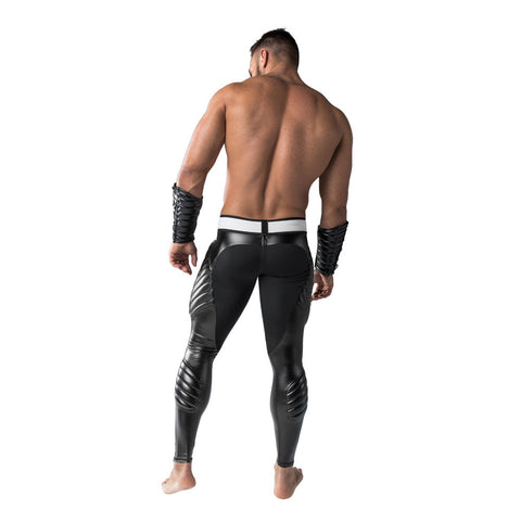 Maskulo Back-Zip Leggings - Black