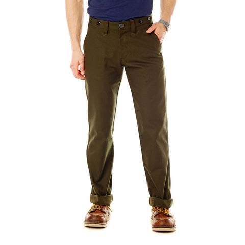 Inseam Union Worker Trouser - Forest Green